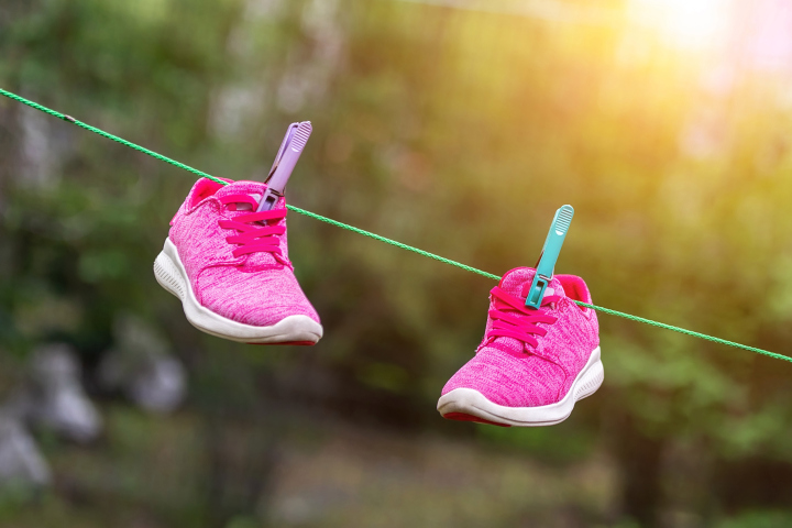 Avoid drying shoes in the direct sunlight